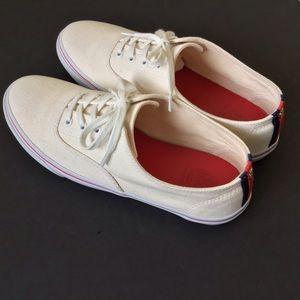 TORY BURCH 'Murray' Canvas Tennis Sneakers Sz 9.5